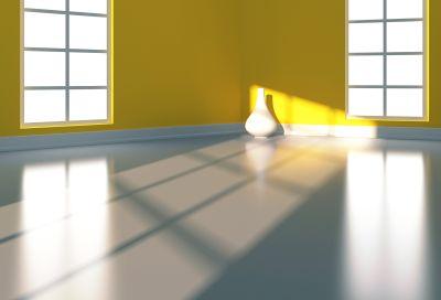 concrete epoxy coated floor